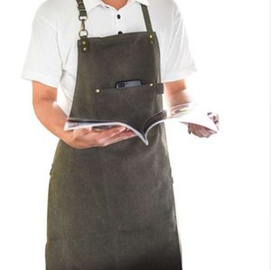 Longo Avental Jardineiro Barista Barman K91 Use Catering Uniforme Chef Canvas Painter Artista Tatuagem Baker Work Florista Carpinteiro Juxo