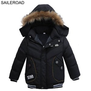 SAILEROAD 2-4 años nuevos abrigos de invierno cálido casual moda niños con capucha prendas de vestir exteriores niños abajo chaqueta de algodón cálido abrigo