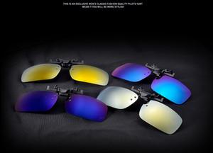 100pcs Gafas Clip Alta calidad Flip Up UV400 Clip en gafas de sol con clip Flip-up Deportes de conducción Visión nocturna Lentes Gafas de sol Buena calidad