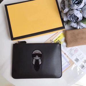 Nueva llegada de los hombres de la moda bolso casual día maletín embrague negro comercial para los hombres bolsa de sobre para hombre con tarjeta con caja de envío gratis