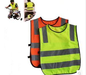200pcs crianças Alta Visibilidade Woking Segurança Vest Trânsito Rodoviário Trabalho colete verde reflexiva Segurança Vestuário Crianças Segurança Vest Y266 Jacket