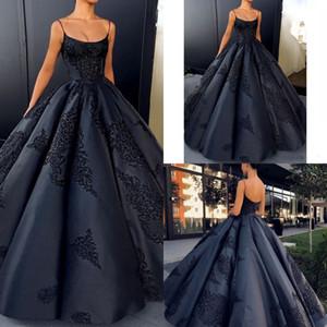 Marinha escura sem encosto vestidos de baile vestido plus size apliques de renda sexy prom dress longo cetim vestidos formais