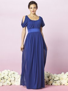 2018 Blue Bridesmaid Dresses Custom Made Colors Bridesmaids Dress Ruched Chiffon Floor Length Straps Off the Shoulder Weddings