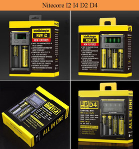 Nitecore I2 I4 I8 D2 D4 유니버셜 Intellicharger 디스플레이 충전기 18650 18350 18500 14500 전자 담배 배터리