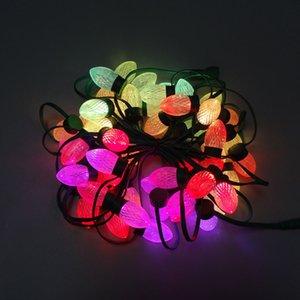 모든 녹색 와이어; 50nodes DC12V 어 드레서 블 D24 C9 RGB LED 픽셀 빛 UCS1903 문자열 크리스마스 요정 조명을 주도 방수 IP68