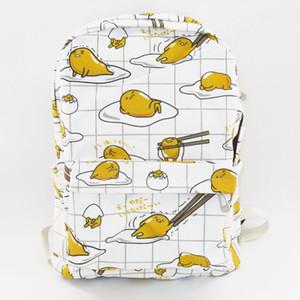 Zaino uovo Gudetama pigro tuorlo d'uovo fratello borsa tela cartone animato per il tempo libero borse scuola secondaria studente secondario