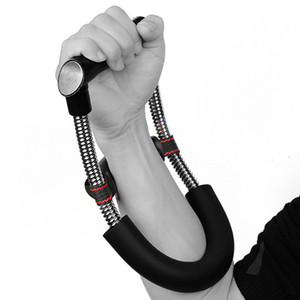 Envío gratis Dispositivo de brazo de muñeca Fuerza de acero Resorte ajustable Fuerza de antebrazo Flexor de mano Agarre las fortalezas