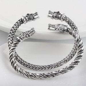 Dragon Wolf Mens Viking Armband Legierung Frauen Viking Armband Manschette Armband Viking Charm Armband Armreif