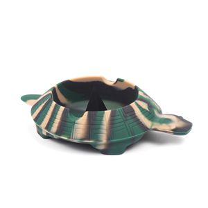 Divertido Turtle Colorful Friendly Cenicero de silicona resistente al calor para el hogar Ceniceros de bolsillo para cigarrillos Aparatos frescos cenicero