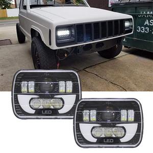 """7x6 zoll led scheinwerfer h4 licht für jeep wrangler yj cherokee comanche 5x7 """"led quadrat scheinwerfer mit drl"""