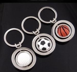 회전 축구 금속 Keychain 골프 농구 남자를위한 차 열쇠 고리 남자 선물 열쇠 고리 3 개의 작풍