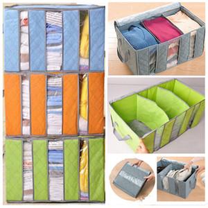 Non Woven Kleidung Veranstalter Taschen Bambuskohle Kissen Quilt Folding Bettwäsche Container Box Fall Home Closet Aufbewahrungstasche Kinder HH7-1530