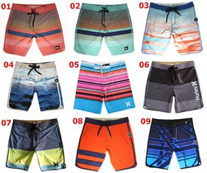 NUEVA Tela de Spandex Pantalones cortos de moda Hombres Bermudas Pantalones cortos Bañadores Bañadores de playa Pantalones cortos de ocio Pantalones cortos Trajes de baño Pantalones de surf de secado rápido