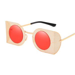 Fashion Brand Design Cat Eye Sunglasses Women High Quality Metal Frame Openwork Mesh Modeling Sun Glasses UV400 W16