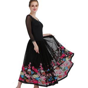 flower ballroom dance competition dresses waltz dance dress fringe luminous costumes standard ballroom dress foxtrot wear