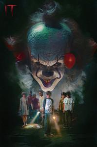 Yeni IT Film Pennywise Stephen Kral Korku Sanat Tuval Poster Modern HD Baskı Yağlıboya Duvar Sanat Boyama Resim Posteri Odası Dekor Için