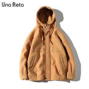 Una Reta Woolen Coats Uomo Autunno Inverno Nuovo Cappotto Giacca Cappotto Uomo Casual Moda Colore solido Giacche uomo Cappotto di alta qualità