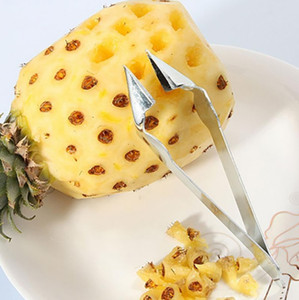 Practical Stainless Steel Cutter Pineapple Eye Peeler Pineapple Seed Remover Clip Home Kitchen Tools High Quality HH7-1098