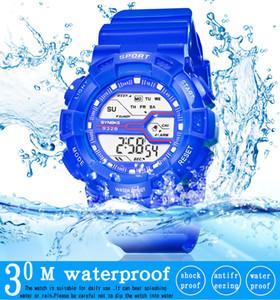 Esporte Crianças Relógio LED Digital Relógios de Pulso para o Menino Menina saat Calendário 30 M Resistente À Água Crianças Cronômetro Alarme Presente Preta