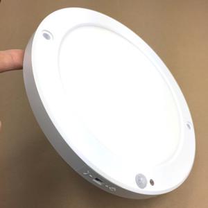 110V 120V 15W LED Painel de luz PIR Sensor de movimento Superfície do teto Luzes montadas Iluminação suave, sem flash, alto brilho 1200lm