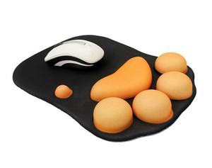 Silicone macio mouse pad de alta qualidade descansos de pulso óptico trackball pc engrossar mouse mat 3d forma da pata do gato conforto mouse pad mat