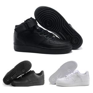 2018 Nike Air Force one Dunk Hombres Mujeres Flyline Zapatillas, Deportes Skateboarding Zapatos High Low Cut Blanco Negro Zapatillas de deporte Al aire libre Zapatillas de deporte