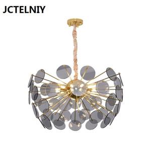 Modern LED avize gri şık dekoratif ışık oturma odası yatak odası aydınlatma