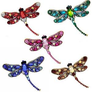 5 цветов европейская и американская мода личность супер Стрекоза Pin шарф кнопка декольте pin ювелирные изделия аксессуары