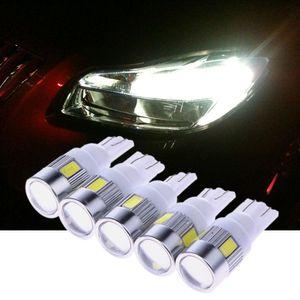 5 Pçs / lote Luzes LED Indicador de Apuramento Do Carro 12 V 3 W T10 5630 6SMD Luzes de Estacionamento de Carro Auto License Plate Luz 1 Din car styling