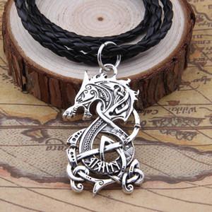 Collier Nordic Vikings Le loup scandinave Pendentif Amulette Collier Norse Bijoux Talisman