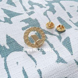 Пользовательские лацкане Pin 1 дюйм масонский венок знак масонский золотой цвет бесплатно масоны булавки и брошь бабочка сцепления обратно