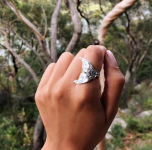 Boho Mermaid Ring Frauen Vintage Silber Fischschwanz Midi Ringe Beach Whale Knuckle Ring Schmuck