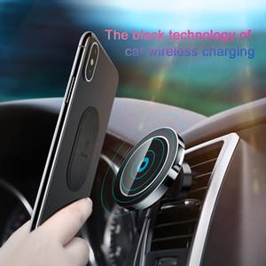 Araç Montaj Qi Kablosuz Şarj Baseus Hızlı Kablosuz Şarj Manyetik Araç Telefonu Tutucu iPhone X 8 Samsung S9 Için Standı