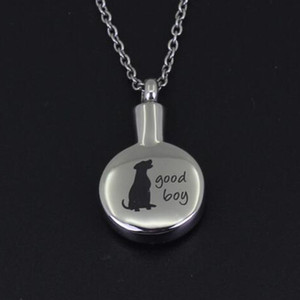 Accessoires de bijoux de mode Crémation Bijoux bon garçon Memorial de chien Souvenir Cendres Urne Collier en acier inoxydable