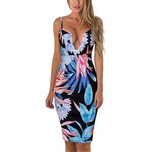 أوروبا والولايات المتحدة جودة الصيف لباس المرأة ، والثدي ، حبال ، اللباس الطباعة المائية F1416