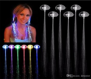 Luminous Light Up LED Hair Extension Flash Braid Party Girl Hair Glow por fibra óptica Navidad Halloween Night Lights Decoración Venta caliente
