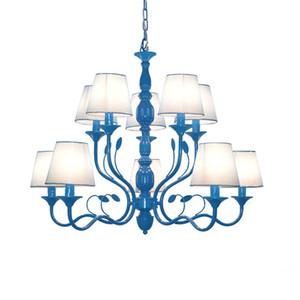Lampadari di lusso in ferro battuto rustico E14 Candela nera vintage antico casa lampadari per soggiorno lampada europea