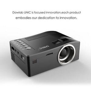 원래 UNIC UC18 미니 LED 프로젝터 휴대용 포켓 프로젝터 멀티 미디어 플레이어 홈 시어터 게임 지원 HDMI USB TF Beamer 지원