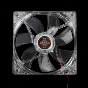 12V Cooling Fan Computer PC CPU Cooler Clear Compute Case Quad 4 Blue LED Light