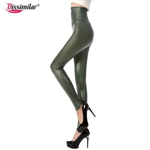 Новые модные женские сексуальные узкие из искусственной кожи с высокой талией леггинсы брюки Xs / S / M / L / Xl 21 цветов оптом
