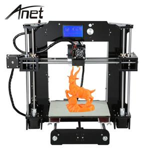 طابعة Anet A6 ثلاثية الأبعاد لشاشة الكمبيوتر المكتبي ذات الحجم الكبير لشاشة LCD مع وظيفة الطباعة خارج الخط لبطاقة TF i3 DIY 3D Printer VB