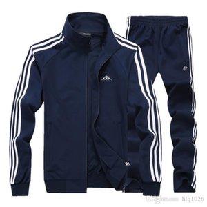 İlkbahar ve sonbahar yağ artı boyutu erkek giyim ceket eklemek obez insanlar spor eğlence takım elbise boy erkek giyim iki parçalı l-8xl