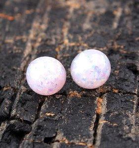 Nuovo sintetico Opal pietre preziose per la moda più venduti orecchini Cartilagine Orecchini Snap monili caldi di vendita delle donne