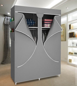 HHAiNi Reinforced Portable Folding Wardrobe Closet Armoire Cabinet Storage Rack Hot