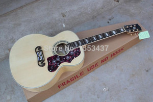 Free Shipping 2015 Custom Shop Hot Selling Dot Spruce Beige S-J-2-0-0 6 Strings Acoustic Guitar