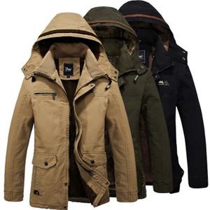 Abrigo con capucha para hombre de invierno Moda Sigle Breasted Abrigo de lana con capucha cálida Hombres Abrigo largo de abrigo de lana con terciopelo cálido Abrigo largo de lana
