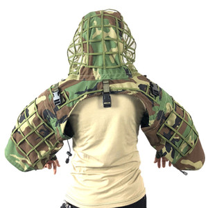 ROCOTACTICAL Ghillie Suit Foundation Made from Ripstop Fabric Camouflage Tactical Sniper Coat Viper Hoods CP Multicam Woodland