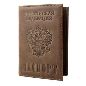 Старинные Crazy Horse кожаный паспорт держатели натуральная кожа обложки паспорта RFID проездной документ обложка кредитной карты держатель 589