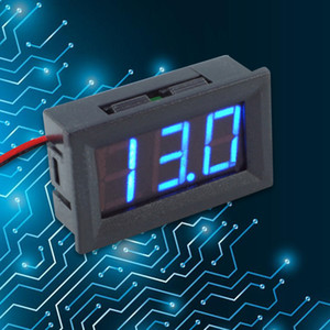 DC4.5-30V 0.56inch Digital Voltmeter Two-wire Three-digit Number LED Display Voltage Meters for Motorcycles Cars