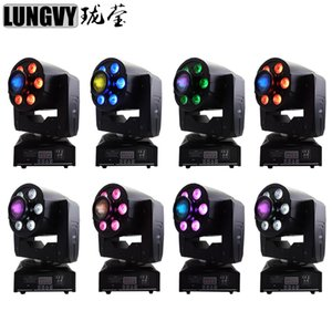 8pcs lot 30W LED Spot Light + 6x8w Wash Light DMX Effect LED Moving Head Disco Lights for Club Nightclub Party dj Wedding